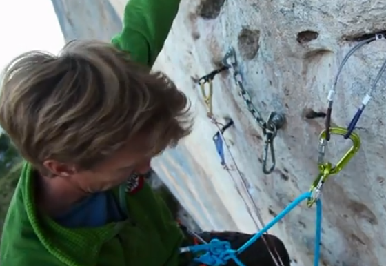 "Arnaud Petit climbs ""Black Bean"" 8b with natural pro in Ceüse"
