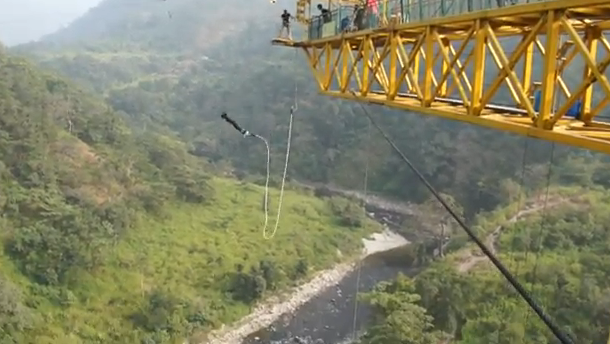 Rishikesh - India's first fixed platform Bungy