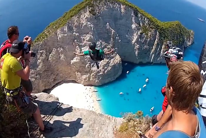 World´s Most Picturesque BASE Jumping Spot - Zakynthos, Greece