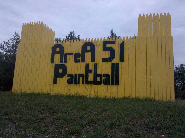 Mancelona Paintball Anlage, im Norden von Michigan, USA