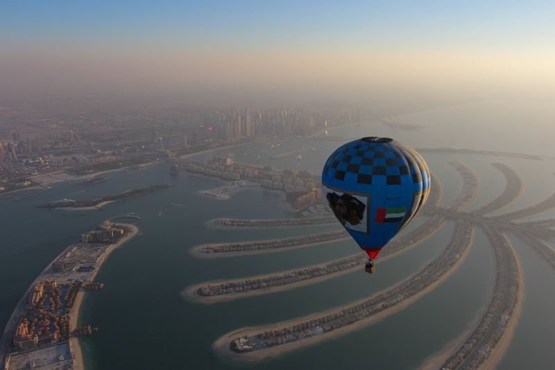 On Top of the World! Hot Air Balloons Filled the Sky in Dubai