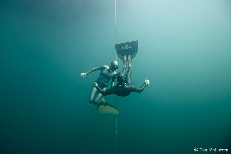 The UK National Freediving Champions are Liv Philip and Tim Money